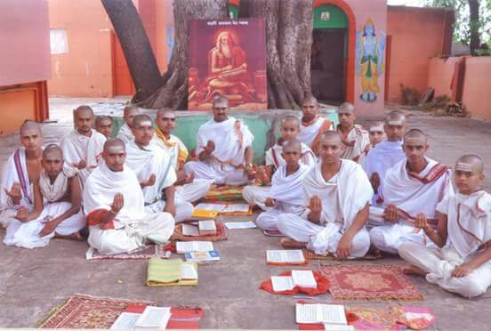 Student Chanting Ved Mantras